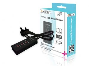 Addon ADDSC300 3 Ports USB Smart Charger with UK Power Adapter